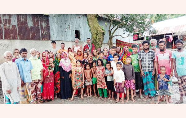 সুনামগঞ্জে ১২ পরিবারকে বাড়িছাড়া করার অভিযোগ