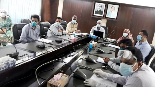 রাগীব রাবেয়া পরিদর্শনে বিভাগীয় স্বাস্থ্য অফিসের পরিদর্শক দল