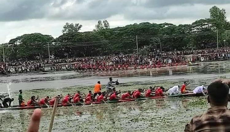 জগন্নাথপুরে নৌকা বাইচ প্রতিযোগিতায় বাংলার পবন চ্যাম্পিয়ান