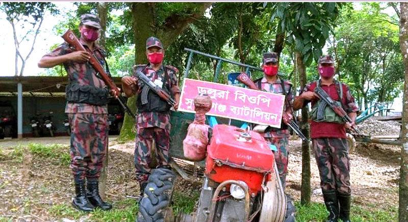 সুনামগঞ্জে পৃথক অভিযানে সাড়ে ৮লক্ষ টাকার অবৈধ মালামাল জব্দ