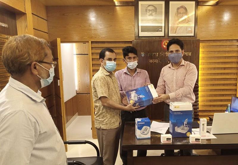 কানাইঘাটে সমাজসেবা অফিসের উদ্যোগে হাসপাতালে মেডিকেল যন্ত্রপাতি প্রদান